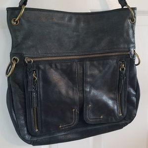 The Sak Distressed Soft Leather Shoulder Bag